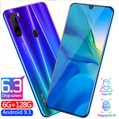 New Phone Bobarry P35 Pro 128G+6G 16MP+8MP 2G/3G/4G Android smartphone blue