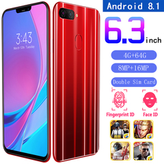 New Sailf Smart phone X21 Plus,4GB+64GB,8MP+16MP, 2G/3G/4G, Dual Sim Card,6.3Inch,Android Smartphone red