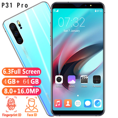 New Bobarry Smart Phone P31 pro 64G+4G 16MP+8MP 2G/3G/4G 5.9Inch Android Smartphone skyblue