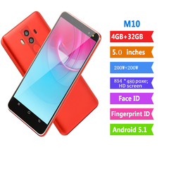 New Bobarry Smart Phone M10 32G+4G 200W+200W 2G/3G 5.0Inch Android Smartphone red