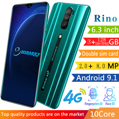 New Bobarry Smart Phone Rino 128G+3G 2+8MP 3G/4G 6.3Inch Android Smartphone Green 128G(64+TF64)