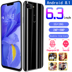 New Bobarry Smart phone X21 Plus,1GB+16GB,2MP+8MP, 2G/3G, Dual Sim Card,6.3Inch,Smartphone black