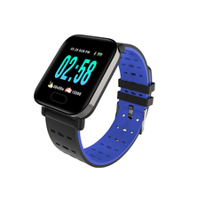 A6 Smart Sport Watches , Bluetooth WristWatch with Camera, puls Monitoring blue one size