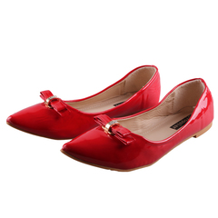 Women fashion Flat Pointed Shoes -Women's Shoes Red 37