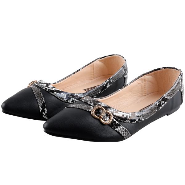 Women fashion Flat Pointed Shoes Women's Shoes Black 40
