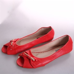 Women Fashion Flat Tip Toe Shoes - red 37