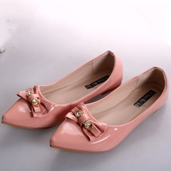 Women fashion Flat Pointed Shoes Pink 41