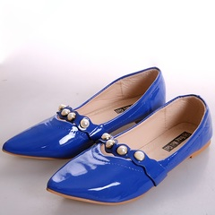 Women fashion Flat Pointed Shoes blue 38