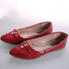Women fashion Flat Pointed Shoes Maroon 42