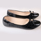 Women fashion Flat Pointed Shoes black 39