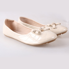 Women fashion Flat Pointed Shoes beige 38
