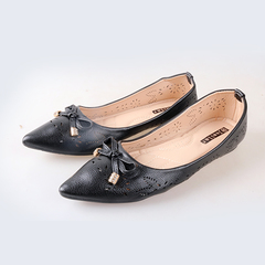 Women fashion Flat Pointed Shoes black 38
