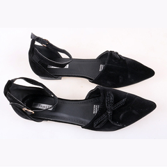 Women fashion Flat Pointed Shoes only one pair per size black 40
