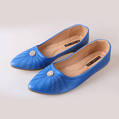 Only 5 PCS in Stock Best Price Women fashion Flat Pointed Shoes ladies shoes women shoes blue 37