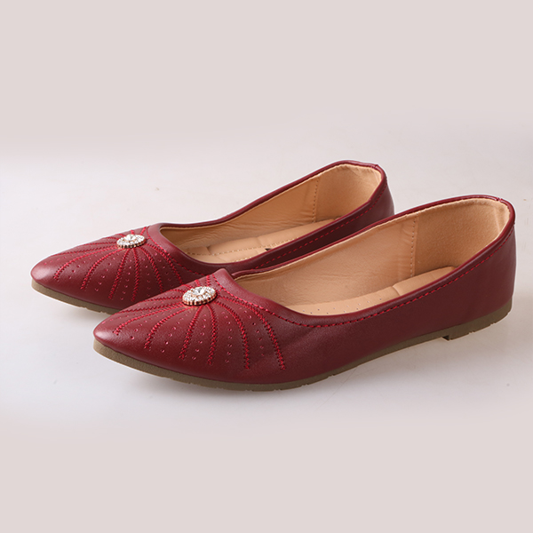 Only 20 PCS in Stock Best Price Women fashion Flat Pointed Shoes ladies shoes women shoes maroon 42