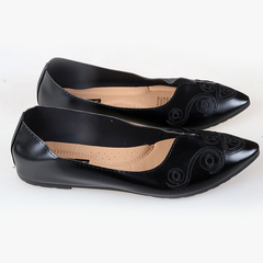 Women fashion Flat Pointed Shoes only one pair per size black 37