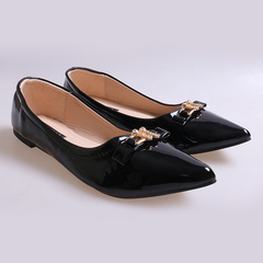 Women fashion Flat Pointed Shoes Black 37