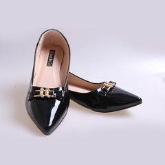 Only 20 PCS in Stock Best Price Women fashion Flat Pointed Shoes ladies shoes women shoes Black 39