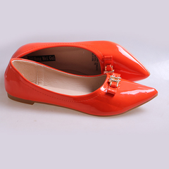 Only 5 PCS in Stock Best Price Women fashion Flat Pointed Shoes ladies shoes women shoes Orange 37