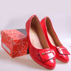 Only 20 PCS in Stock Best Price Women fashion Low Wedge Shoes ladies shoes women shoes Red 37