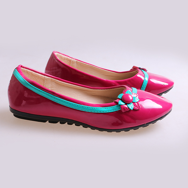 Kids Flat Shoes red 34 5