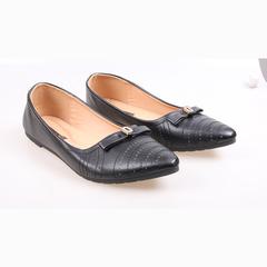 Women fashion Flat Pointed Shoes black 39