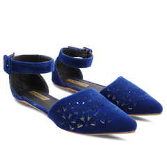 Only 20 PCS in Stock Factory Best Price Women fashion Flat Pointed Shoes ladies shoes women shoes blue 37