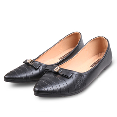 Only 20 PCS in Stock Best Price Women fashion Flat Pointed Shoes Factory ladies shoes women shoes black 39