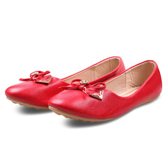 Only 20 PCS in Stock Factory Best Price Women Flat Pointed Shoes ladies shoes women shoes Red 42