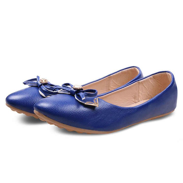 Only 20 PCS in Stock Factory Best Price Women Flat Pointed Shoes ladies shoes women shoes Blue 38