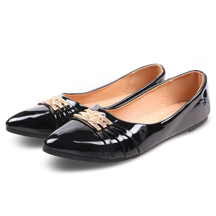 Only 20 PCS in Stock Factory Best Price & Limited Women Flat Pointed Shoes ladies shoes women shoes Black 37