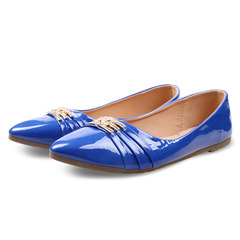 Only 10 PCS  in Stock Factory Best Price & Limited Women Flat Pointed Shoes ladies shoes women shoes Blue 38