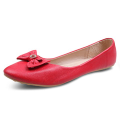 Factory Best Price & Limited stock Women fashion Flat Pointed Shoes ladies shoes women shoes Red 42