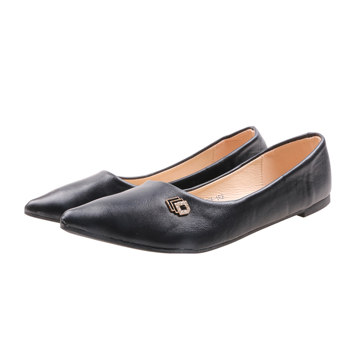 Only 20 PCS in Stock Factory Best Price stock Women Flat Pointed Shoes ladies shoes women shoes black 40