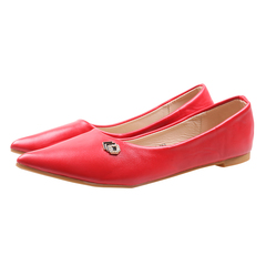 Only 20 PCS in Stock Factory Best Price stock Women Flat Pointed Shoes ladies shoes women shoes red 42