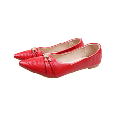 Only 20 PCS in Stock Factory Best Price stock Women  Flat Pointed Shoes ladies shoes women shoes red 37