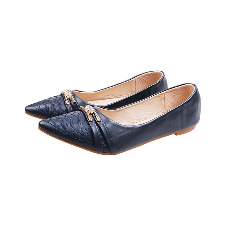 Only 20 PCS in Stock Factory Best Price stock Women  Flat Pointed Shoes ladies shoes women shoes navy 42