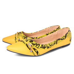 Only 10 PCS in Stock Factory Best Price Women fashion Flat Pointed Shoes ladies shoes women shoes yellow 37