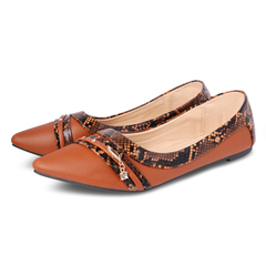 Only 20 PCS in Stock Factory Best Price Women fashion Flat Pointed Shoes ladies shoes women shoes camel 42