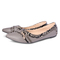 Only 20 PCS in Stock Factory Best Price Women fashion Flat Pointed Shoes ladies shoes women shoes gray 42
