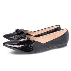 Only 20 PCS in Stock Factory Best Price Women fashion Flat Pointed Shoes ladies shoes women shoes black 39