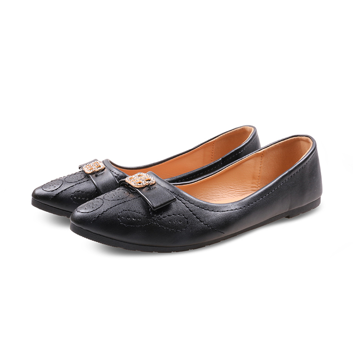 Only 20 PCS in StockFactory Best Price stock Women Flat Pointed Shoes ladies shoes women shoes black 37