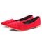 Only 20 PCS in Stock Best Price Women fashion Flat Pointed Shoes ladies shoes women shoes red 42