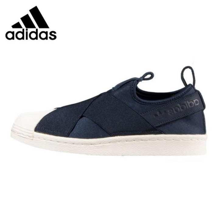 adidas superstar slip on dark blue