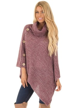 2019 hot sale women's autumn/winter capes knit tops and sweaters for women's  wear red s