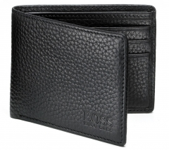 Mens Designer Black Leather Wallet