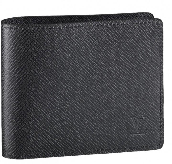 Mens Designer Black Leather Wallet