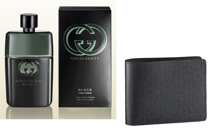 Gucci Guilty Perfume for men +  Black Leather Wallet