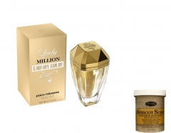 Lady Million by Paco Rabbane + free Apricot body/face Scrub