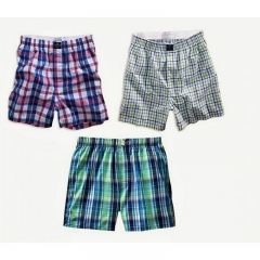 Classic Plaid Men Boxer Shorts mens underwear trunks Cotton Cuecas Underwear boxers - Three Pack MULTICOLOURED M